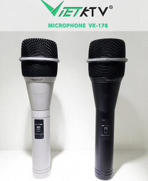 Kết quả hình ảnh cho Micro có dây VietKTV VK-178